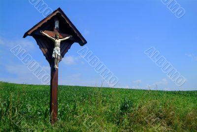 Kreuz auf Wiese | cross at meadow