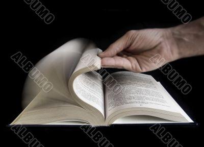 Defoliate a book