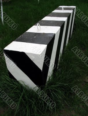 Striped barrier
