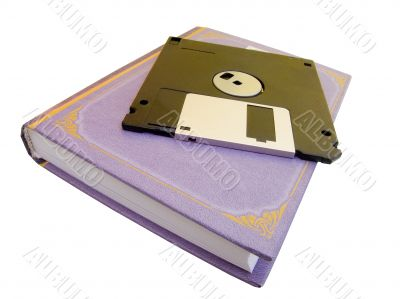 The book and diskette for a computer