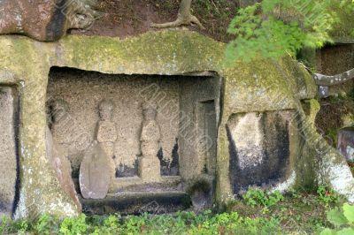Ancient statues-Matsushima,Japan