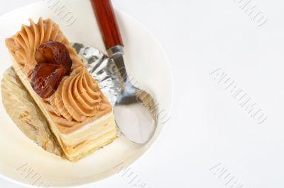Chestnut cake-upper view