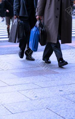 Businessmen shopping