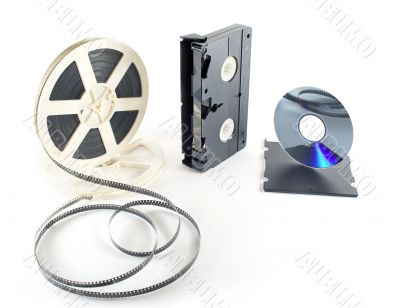 retro film, VHS, DVD