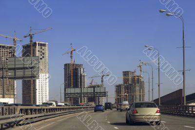 region construction around town freeway