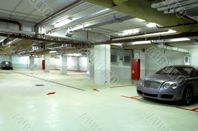 underground garage of the building