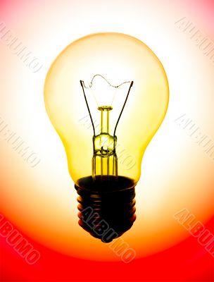Lamp yellow-red