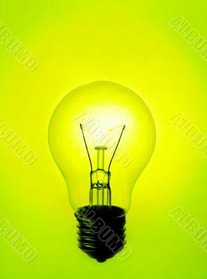 Lamp yellow-green