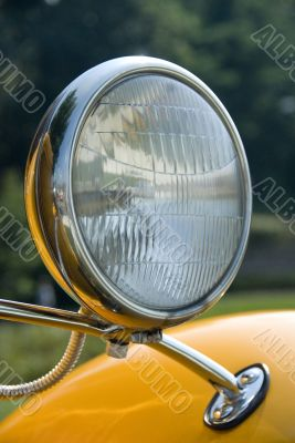 Head Lamp on a school bus
