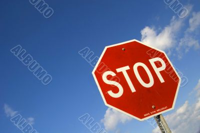 Tilted Stop Sign