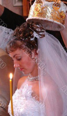 Bride with wedding crown
