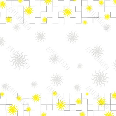 Borders and sun pattern