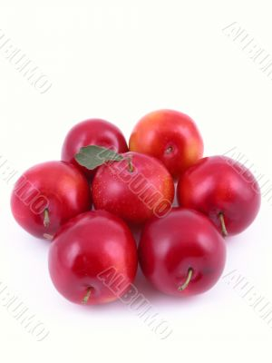 sweet red plums