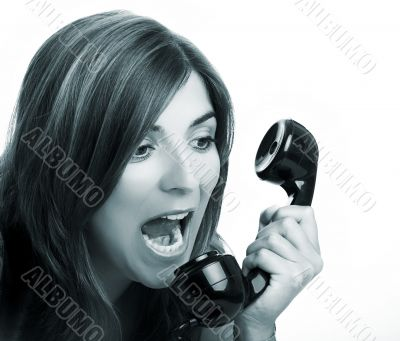 Yelling at the phone