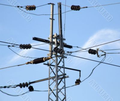 mast of the power supply
