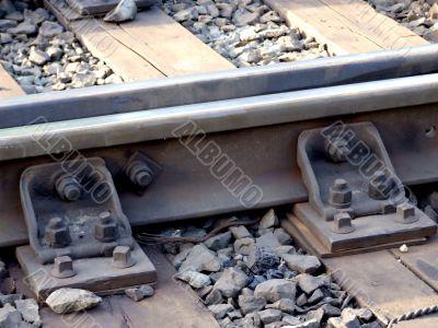 railway rails, elements