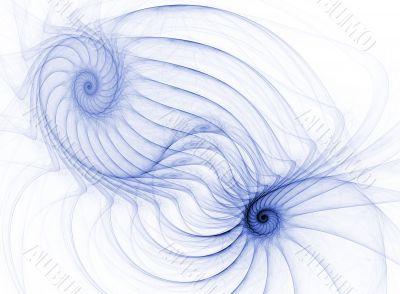 Blue Dual Spirals