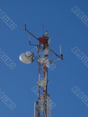The peak of communication Hi-Tek mast
