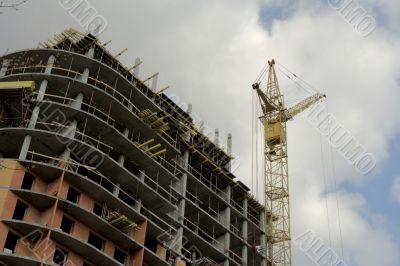 A under construction skyscraper