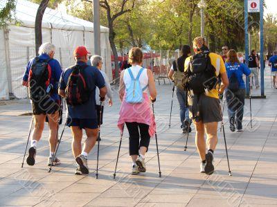 Sports walking