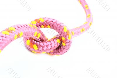 pink knot isolated on white close-ups