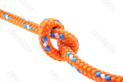 orange knot isolated on white close-ups