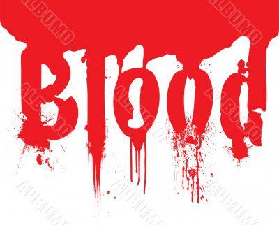 header blood dribble text