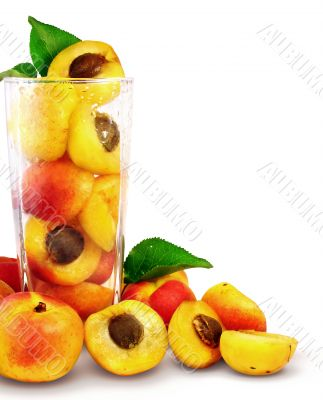 apricots in the glass