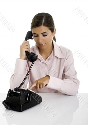 Speaking at the phone
