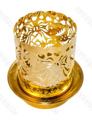 Candlestick from a brass