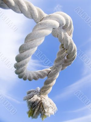 knot from a rough cord