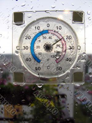 a temperature of rain