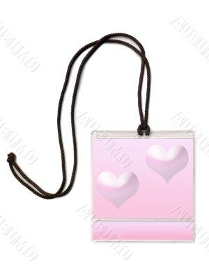 Badge Valentine`s day