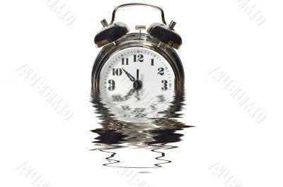 Alarm clock in water