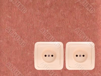 Two electric sockets