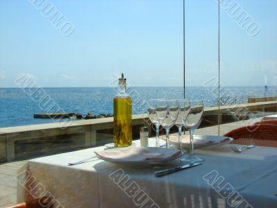 Interior of the Mediterranean restaurant