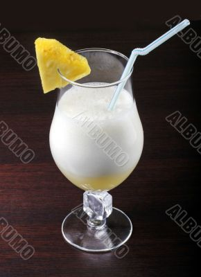 Cocktail drink with pineapple