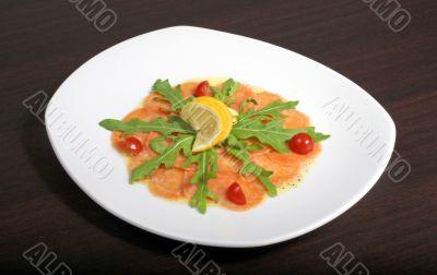 carpaccio with salmon