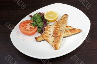 Roasted fish with vegetable