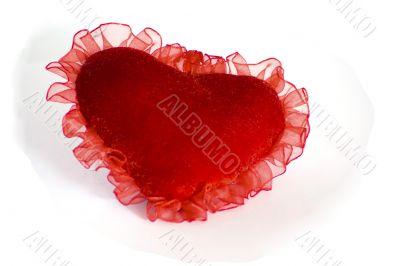 Velvet heart with curves