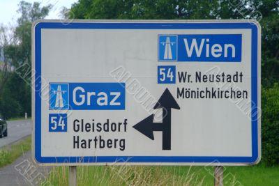 traffic sign motorway