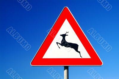 traffic sign deer pass