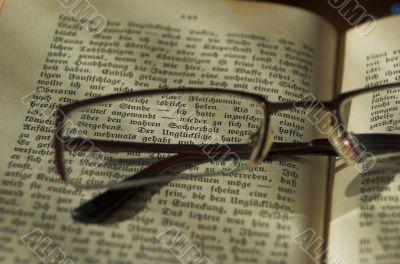 book adn glasses
