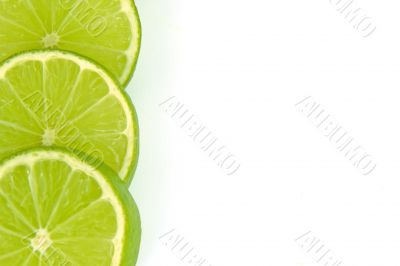sliced lime border