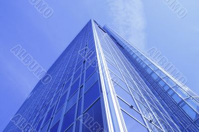 tall blue skyscraper