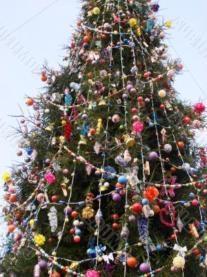 Decorated Fur-tree as New Year symbol