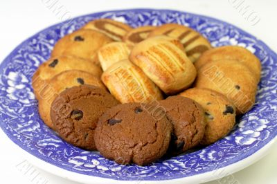 Plate with fancy biscuits