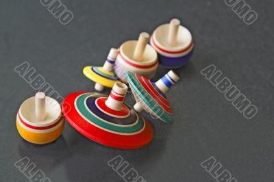 Asian wooden tops