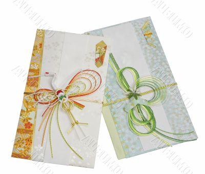 Two Japanese festive envelopes