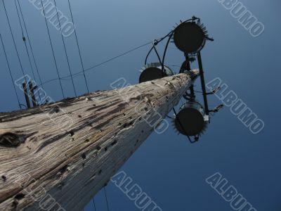 Utility pole and fixtures
